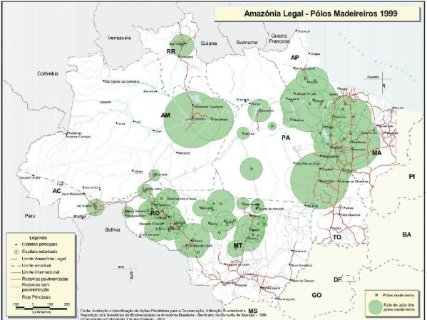 Amazônia Legal - Pólos Madereiros